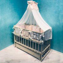Комплект детской постели из 7-ми элементов Betis — Бежевые звезды