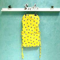 Чехол для стульчика — трансформера — Желтый с горошком