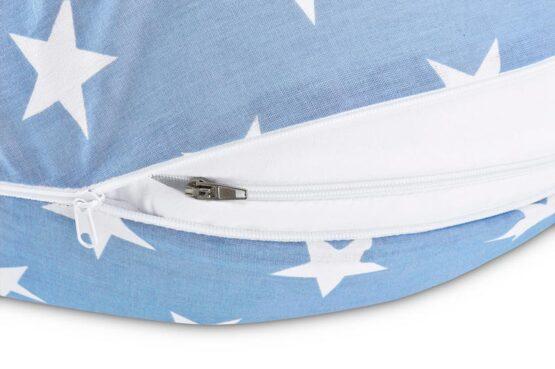 Perna pentru gravide alaptare Albastru cu stele albe2