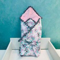 Плюшевый Конверт BabyTerra Dream – Одеяло для новорожденных с Совушками