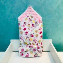 Плюшевый Конверт BabyTerra Dream – Одеяло для новорожденных с Кошками