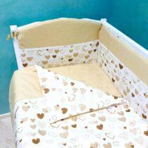 Комплект детской постели BabyTerra Dream Бежевый с сердечками