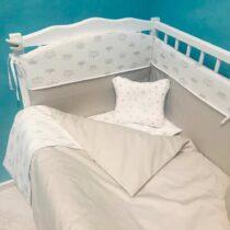Комплект детской постели BabyTerra Dream Короны на белом
