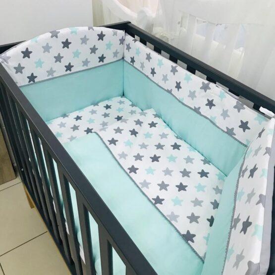 Комплект детской постели BabyTerra Dream Ментоловые звезды