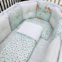 Set de lenjerie pentru pat oval Pernuțe – Cu trandafiri