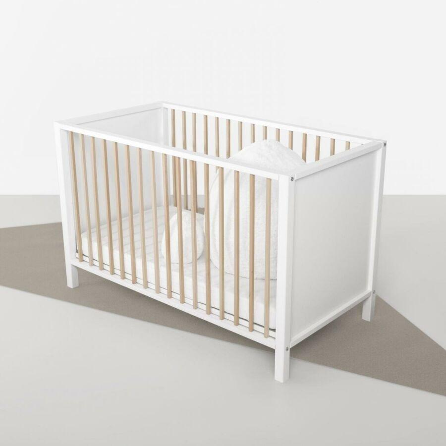 Ruдеревянная кроватка Quax Nordic White Naturelropatut De Lemn Quax Nordic White Naturel