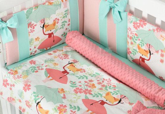 Комплект детской постели Asik Лиза с зонтиком