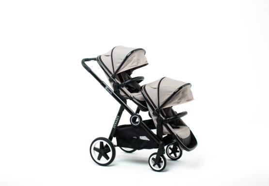 Carucior pentru gemeni BabyZz DYNASTY Olive 34
