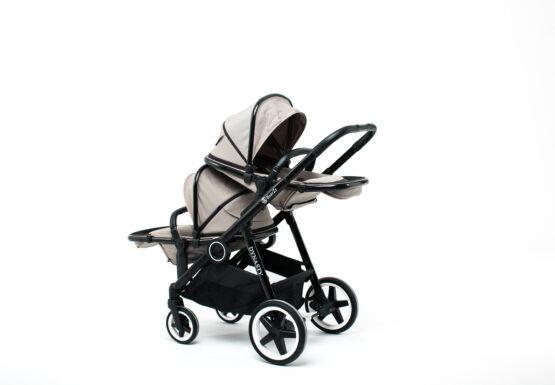 Carucior pentru gemeni BabyZz DYNASTY Olive 38