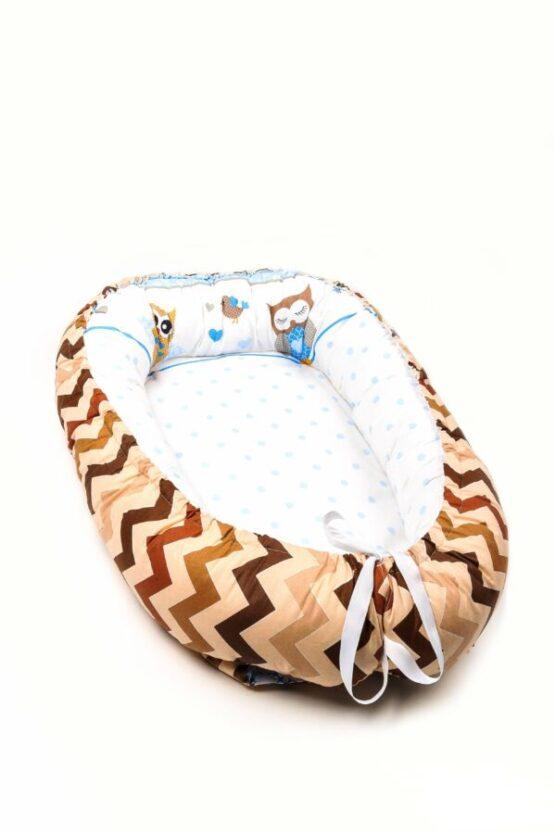 Cuib pentru bebelusi Babynest Bufniță – Zigzag